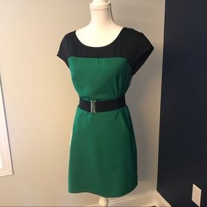 Express Colorblock Shift Dress